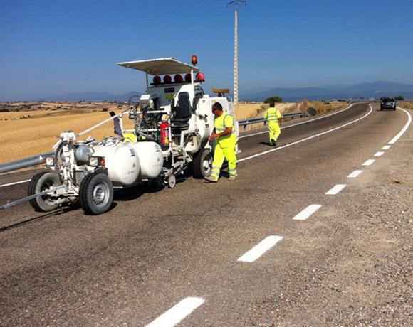 Señalización horizontal de las carreteras de la provincia de Toledo.