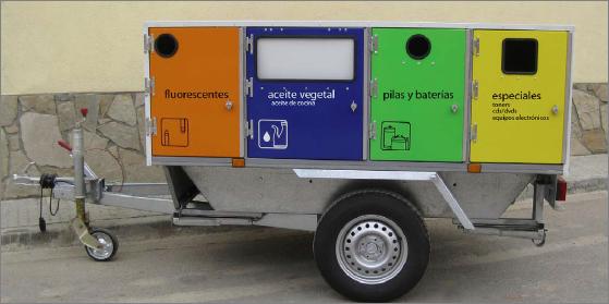 Remolque Recicla Móvil para recogida de residuos