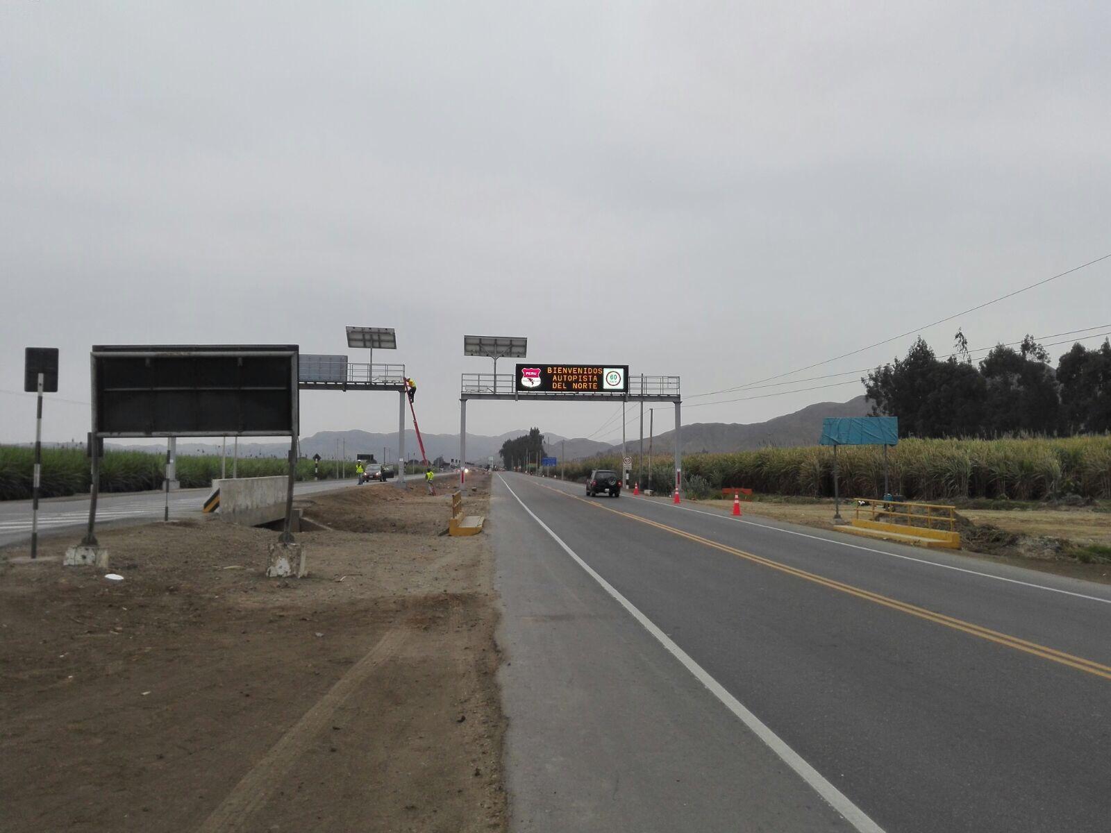 Tecnivial paneles de mensaje variable en Perú
