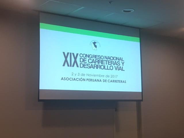 XIX Congreso Nacional de Carreteras y Desarrollo Vial en Peru