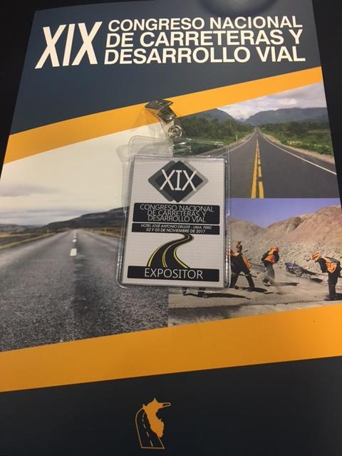 Tecnivial en el congreso nacional de carreteras y desarrollo vial en Perú