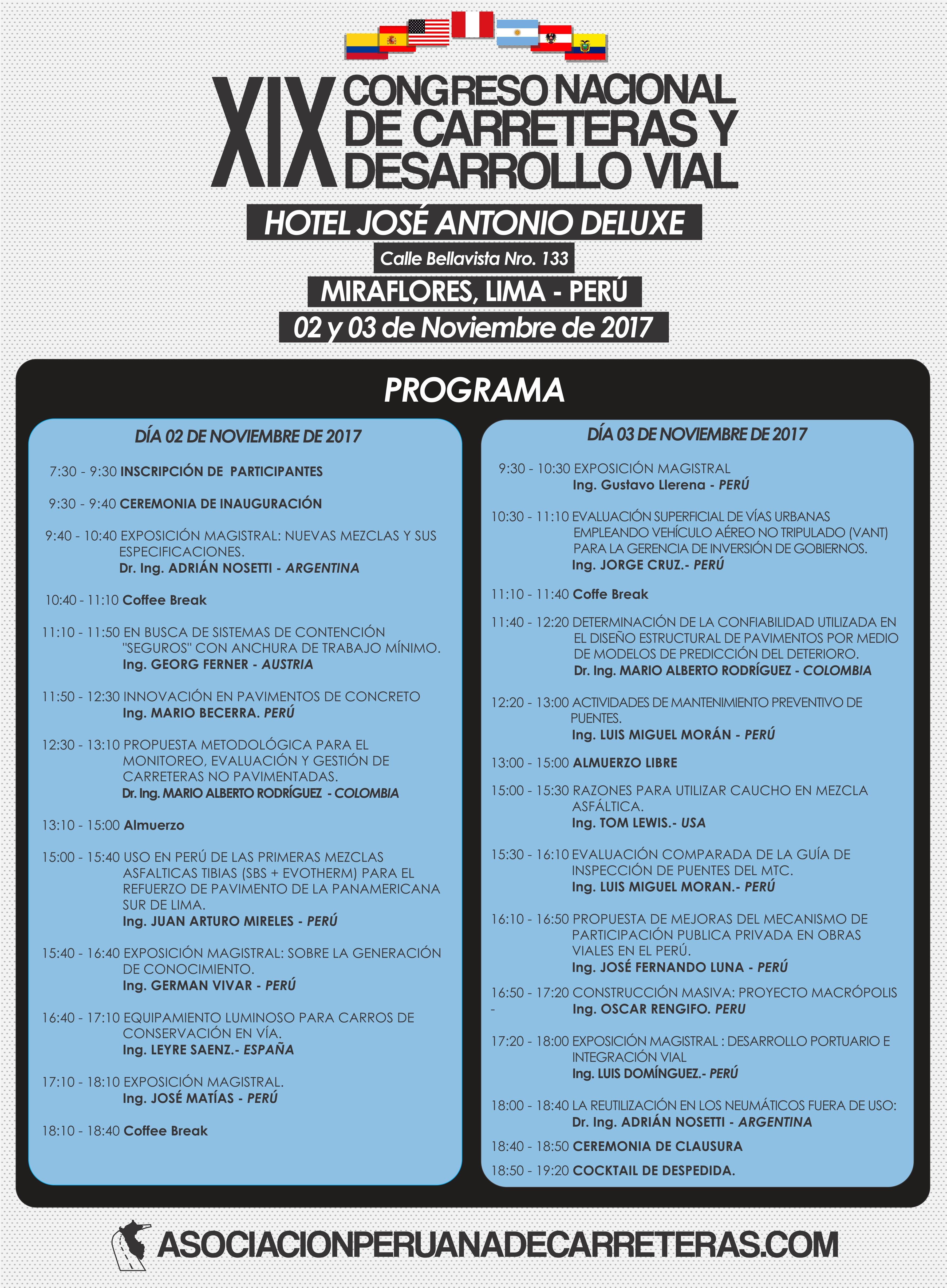 Programa de congreso nacional Perú
