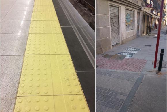 Fomentemos la Accesibilidad en espacios públicos y entorno urbano; Pavimento Podotáctil
