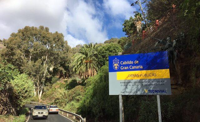 Recalces de mampostería y colocación de barrera de seguridad en Gran Canaria