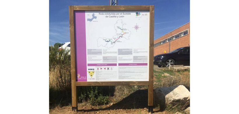 Señalización de la ruta ciclista del Sureste de Castilla y León