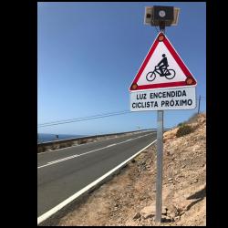 Instalación de señales sensorizadas en Canarias