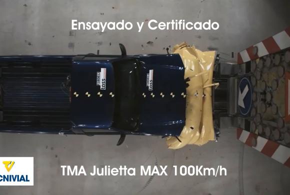 TMA Julietta MAX 100Km/h , atenuador de impactos móvil ensayado y certificado