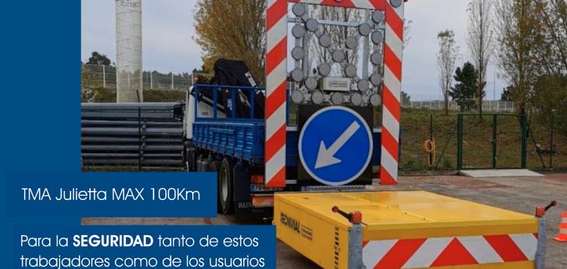 ¿Por qué elegir un Atenuador de Impactos Móvil TMA Julietta MAX 100Km de Tecnivial?
