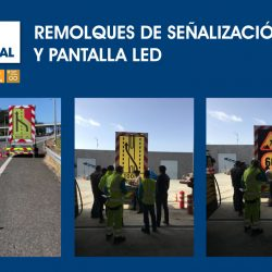 Remolques de señalización con pantallas LED