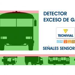 Señales Sensorizadas, Detector Electrónico de Exceso de Gálibo