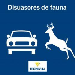 DISUASOR DE FAUNA, COMPLEMENTO IDÓNEO PARA LOS HITOS en las carreteras.